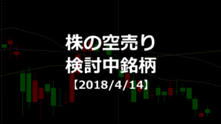 株の空売り検討中銘柄