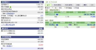 【2019/1/15】株式投資資産