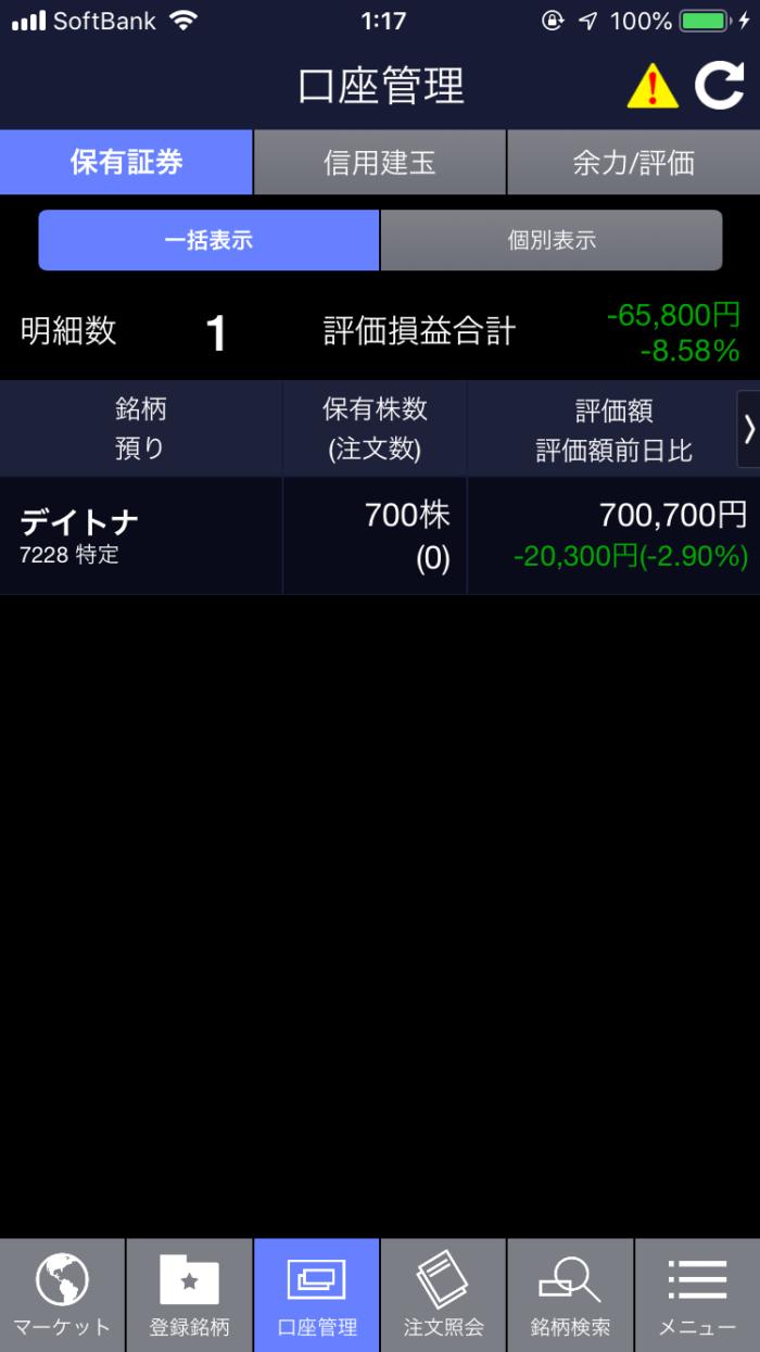 【2019/2/9】株式投資資産